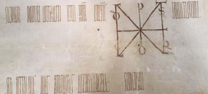 Monogramma dell'imperatore Lotario III - ASRa Corporazioni religiose - Canonica di Santa Maria in Porto, anno 1137