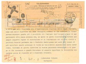 Telegramma 1938